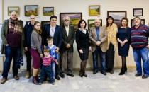 Открытие персональной выставки Владимира Рындина в Доме знаний
